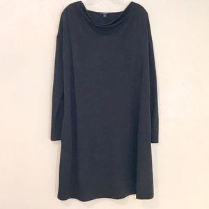 COS black knit dress, M/L